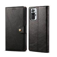 Lenuo Leather für Xiaomi Redmi Note 10 Pro, schwarz - Handyhülle