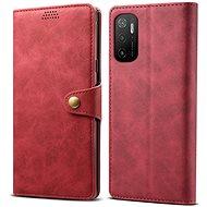 Lenuo Leather für Xiaomi Poco M3 Pro 5G, rot - Handyhülle