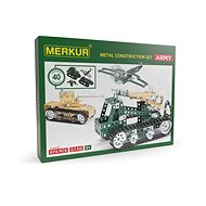 Bausatz Merkur Metallbaukasten Panzer-Set Army Set - Stavebnice