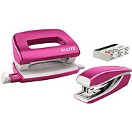 Leitz WOW Hefter + Locher, Metallicpink - Set