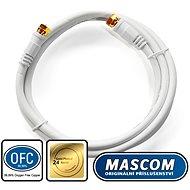 Mascom-Koaxialkabel 7676-015W, Steckverbinder F 1,5m - Koaxialkabel
