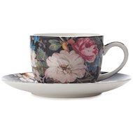 Maxwell & Williams Tasse mit Untertasse 100 ml William Kilburn Midnight Blossom - Tasse + Untertasse