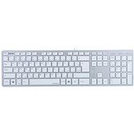 Hama Rossano CZ+SK bílo-stříbrná - Tastatur