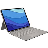 "Logitech Combo Touch für iPad Pro 12.9"" (5. Generation), sand - US INTL - Tastatur"