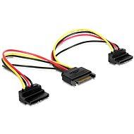 Gembird Cableexpert SATA Strom für 2x SATA 90°, Splitter, 0,15m - Ladekabel