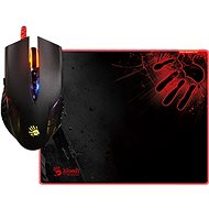 A4tech Bloody Neon XGlide Q5081S Gaming-Maus Q50 + Mauspad B-081S im Set - Gaming-Maus