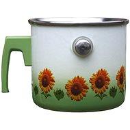 Metalac emaillierter Simmertopf, Sonnenblumen-Dekor - sieden