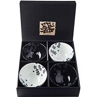 Made In Japan Set Schalen Black & White Sakura 260 ml 4-tlg