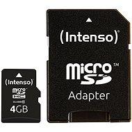 Intenso Micro SD Karte Class 10 4GB - Speicherkarte