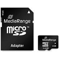 MEDIARANGE microSDHC 4GB Class 10 + SD-Adapter - Speicherkarte