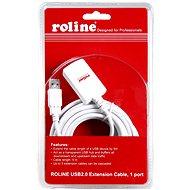 ROLINE USB 2.0 Verlängerung 5 m A-A aktiv weiß - Datenkabel