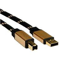ROLINE Gold USB 2.0 A-B, 1.8m - Schwarz / Gold - Kabel