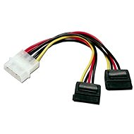 ROLINE Internes Y-Power Cable, 4-Pin HDD to 2x SATA, 0,12 m - Datenkabel