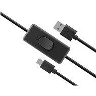 AKASA USB C Netzkabel mit Schalter / AK-CBUB57-15BK - Datenkabel