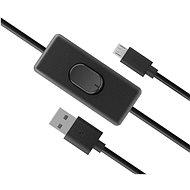 AKASA USB Micro-B Stromkabel mit Schalter / AK-CBUB58-15BK - Datenkabel
