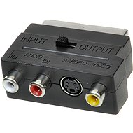 Adapter OEM Scart - 3x RCA + S-Video Umschaltbar IN / OUT - Redukce