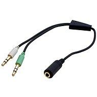 OEM Audio Reduktion von 4-poligen 3,5 mm F-Stecker ---> 2 x 3,5mm M-Stecker - Adapter