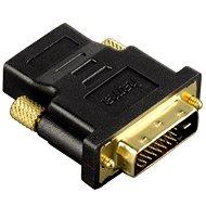 Hama DVI-HDMI-Adapter, DVI-Stecker-HDMI-Kupplung, vergoldet, geschirmt - Adapter