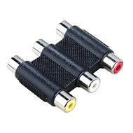 Hama Verbindungsmodul für Kabel 3 x Cinch (F) - 3 x Cinch (F) - Kabelverbinder