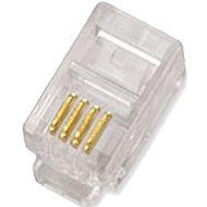 Datacom Modularstecker RJ10, CAT3, UTP, 4p4c, ungeschirmt, Litzenkabel - 100 Stück - Konnektor