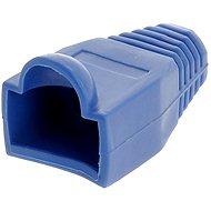 Anschlussabdeckung mit 10 Stück, Kunststoff, blau, Datacom, RJ45 - Steckerkappe