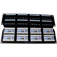 Datacom Patch-Panel, 48x RJ45, direkt, CAT5E, UTP, schwarz, 2U, LSA - Patch Panel