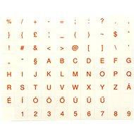 Tastaturaufkleber, ungarisch, rot - Überkleber