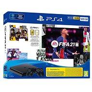 PlayStation 4 Slim 500 GB + FIFA 21 + 2 x DualShock 4 - Spielkonsole