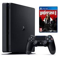 Sony PlayStation 4 - 500 GB Slim + Wolfenstein II: The New Colossus - Spielkonsole