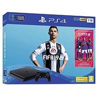 PlayStation 4 1TB Slim + FIFA 19 + extra DualShock 4 - Spielkonsole