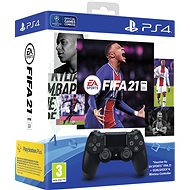 Sony PS4 Dualshock 4 V2 - Black + FIFA 21 - Gamepad