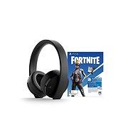 Sony PS4 Gold Wireless Headset Schwarz + Fortnite - Gaming Kopfhörer