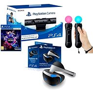 PlayStation VR für PS4 + Spiel VR Worlds + PS4 Kamera + PS MOVE Twin Pack - VR-Brille
