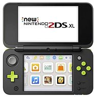 Nintendo NEW 2DS XL Black & Lime Green + Mario Kart 7 - Spielkonsole