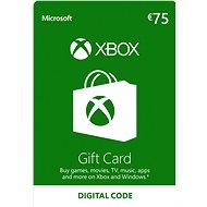 Xbox Live Geschenkkarte im Wert von 75 Eur - Prepaid Card