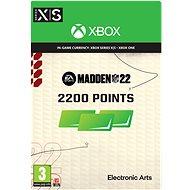 Madden NFL 22: 2200 Madden Points - Xbox Digital - Gaming Zubehör