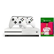 Xbox One S 1 TB + FIFA 20 + 2x Controller - Spielkonsole