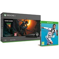 Xbox One X + Shadow of The Tomb Raider + FIFA 19 - Spielkonsole