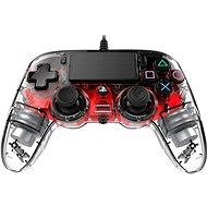 Gamepad Nacon Wired Compact Controller PS4 - transparent Rot