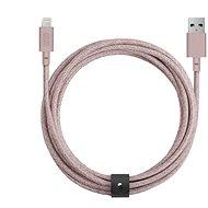 Native Union Belt Cable XL Lightning 3m, rosa - Datenkabel