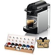 NESPRESSO De'Longhi EN 124 S, Silber - Kapsel-Kaffeemaschine