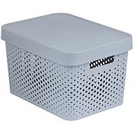 Curver INFINITY DOTS Box 17 Liter - grau - Aufbewahrungsbox