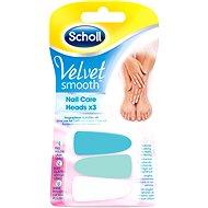 SCHOLL Velvet Smooth Elektronisches Nagelpflegesystem Pink - 3 Ersatzköpfe - Ersatzzahnbürsten