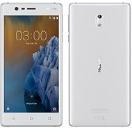 3 White Silver Nokia Dual-SIM - Handy
