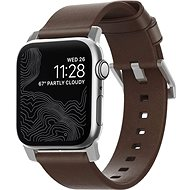 Nomad Horween Leather Strap Modern Silver - Armband