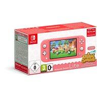 Nintendo Switch Lite - Coral + Animal Crossing + 3M NSO - Spielkonsole