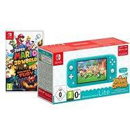 Nintendo Switch Lite - Turquoise + Animal Crossing + 3M NSO + Super Mario 3D World - Spielkonsole