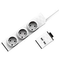 Allocacoc PowerStrip Modular Switch Set 1,5 m + USB-Modul - Steckdose