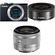 Canon EOS M100 schwarz + M 15-45mm silber + M 22mm - Digitalkamera