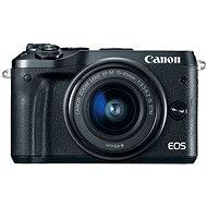 Canon EOS M6 schwarz + EF-M 15-45 mm + 55-200 mm - Digitalkamera